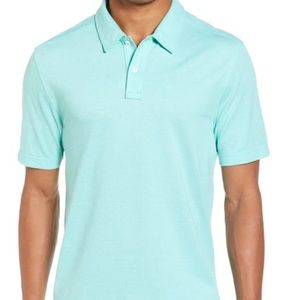 ⬇️ Nordstrom's Men's Shop XL teal colored polo